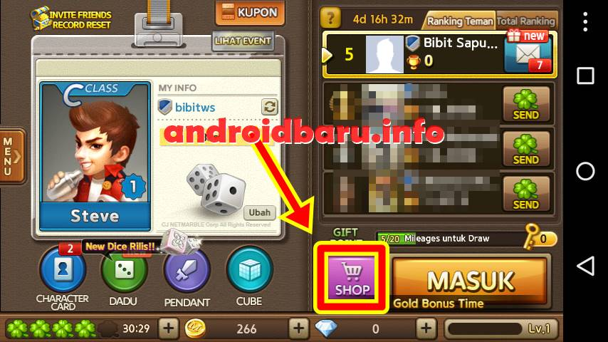 SHOP - Diamond Get Rich Gratis update hari ini aktif
