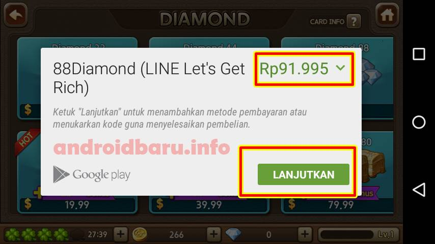 Diamond Gratis Line Lets Get Rich terbaru full