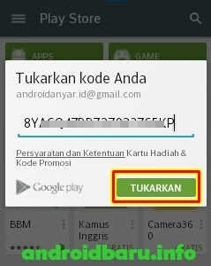 Redeem Google Play Store Gift Card Indonesia