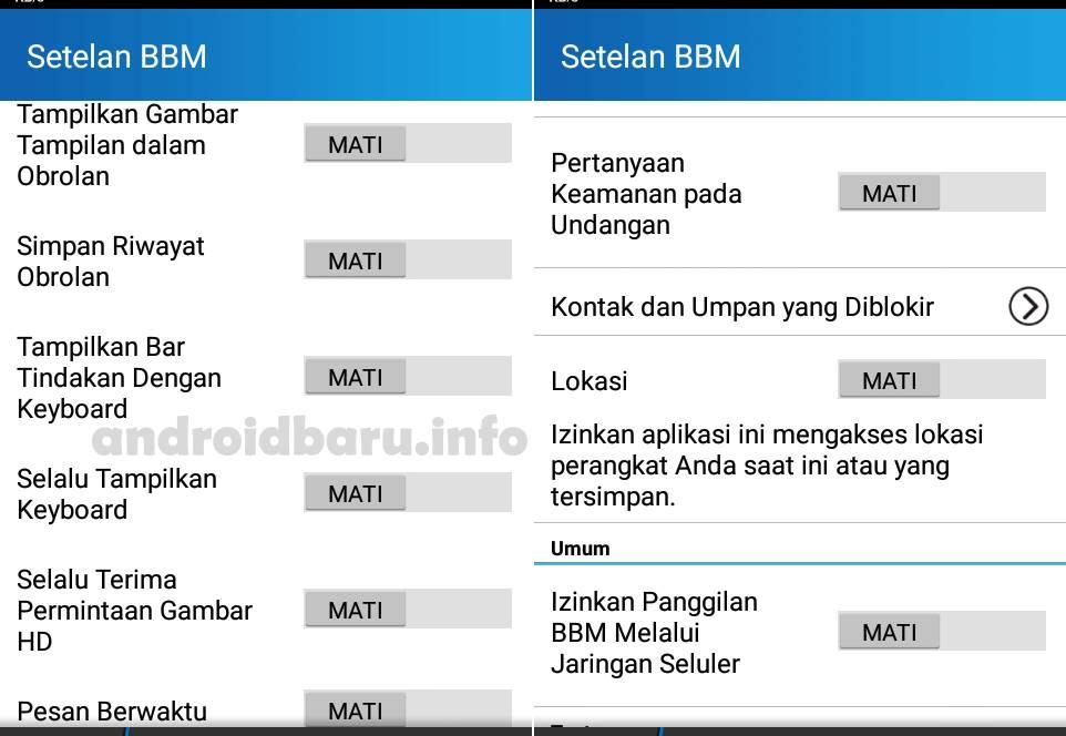 Setelan BBM Android Agar Loading Cepat tidak Lemot