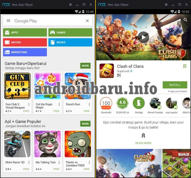 install nox android emulator for pc 7