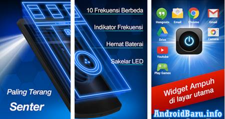 Download Aplikasi Senter Android Terbaik App Lampu Senter LED Flashlight APK