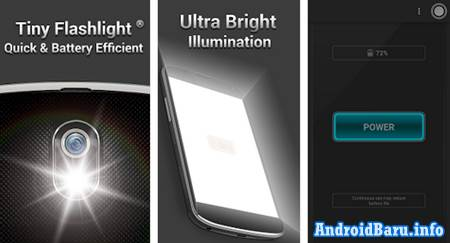 Download Aplikasi Senter Android Terbaik Tiny Flashlight APK