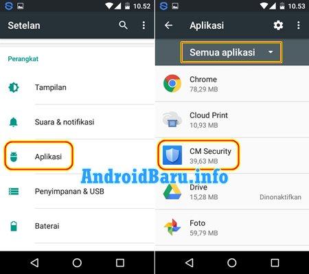 Cara Menghapus Aplikasi di Android Lewat Setelan