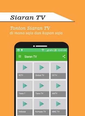 Download Aplikasi TV Android Terbaik Lengkap CHannelnya